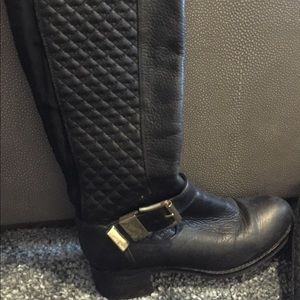 Vince Camuto black leather riding boots